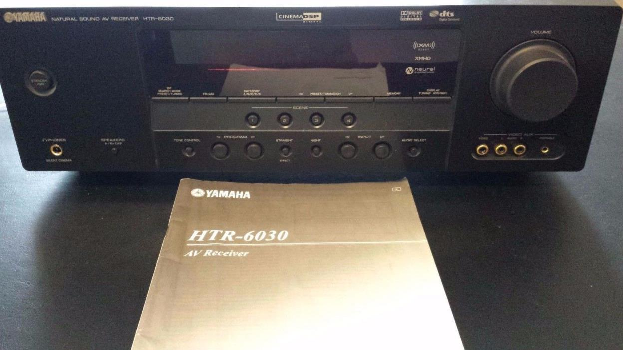 HTR-6030 Yamaha AM/FM/Theater Stereo System. 100 Watts/ 5 Channel:500 Watts.
