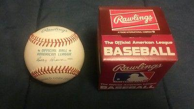 Vintage Rawlings Baseball American League Bobby Brown Official