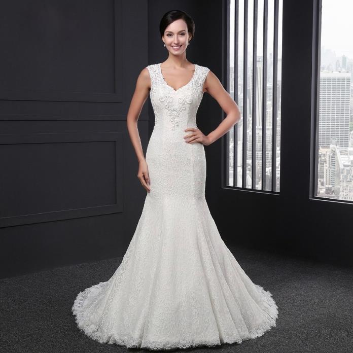 Tara's Mermaid Lace Wedding Dress