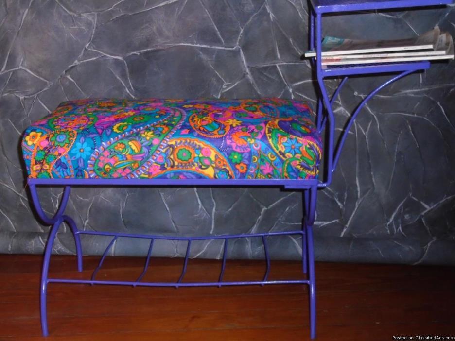 1960's Mod Hippie Style Gossip Bench