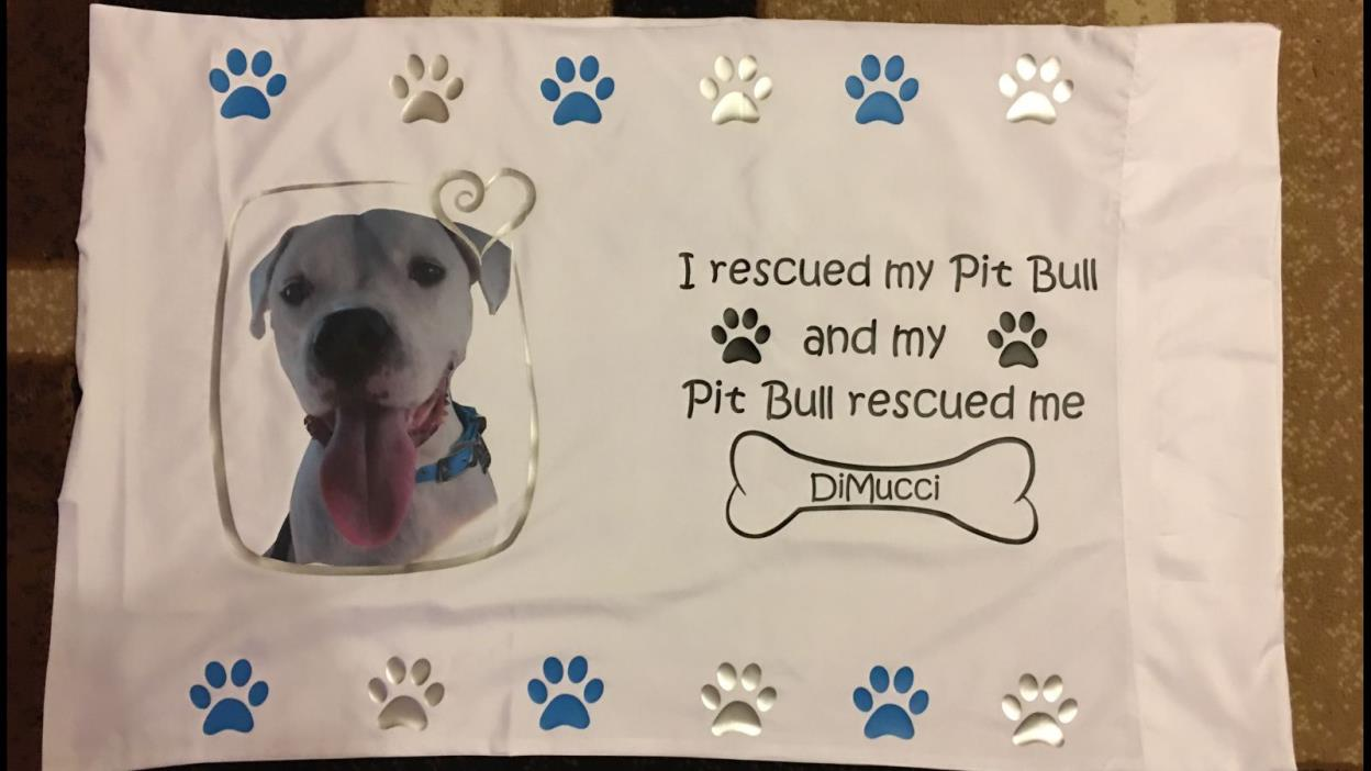 Rescued Pitbull Personalized Pillow Case (Or any other animal)