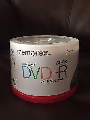 50PK Memorex DVD+R 8.5GB
