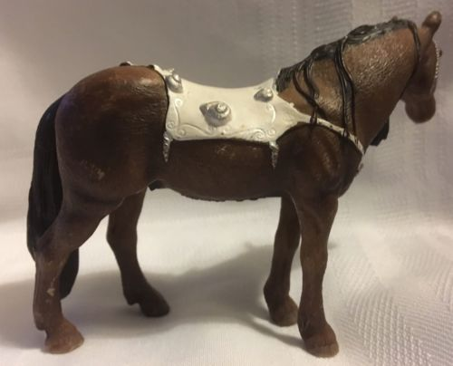 Schleich Germany Toys Riderless Horse Shell Blanket 2007 Mystical Brown