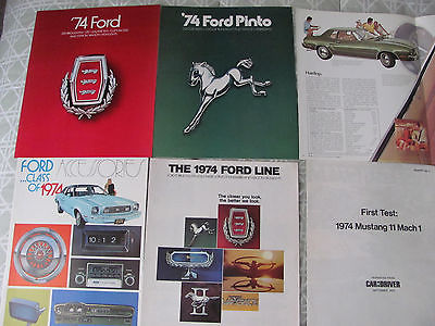1974 FORD  Cars and Trucks Brochures