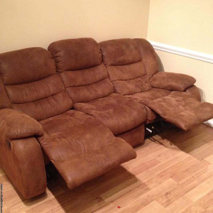 Sofa walnut brown