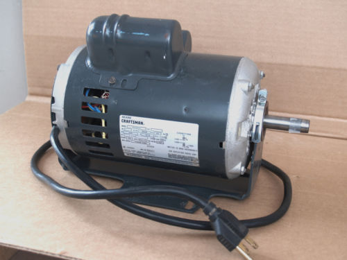 1 1/2 HP Craftsman Table Saw Motor 8200030 Clean with Upgraded Bearing