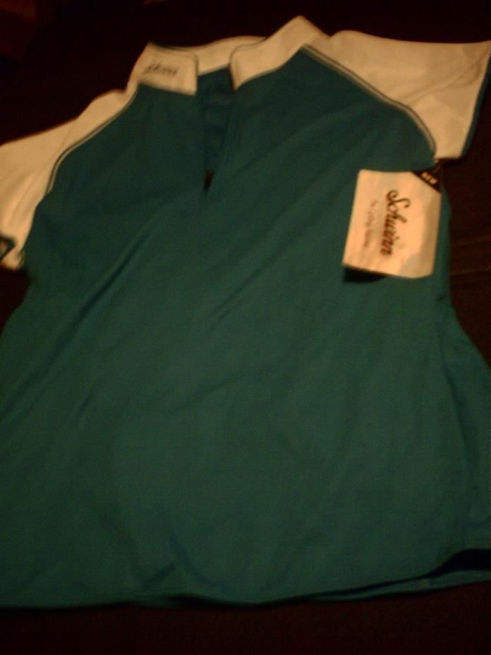 new - Schwinn Turquoise/White Short-Sleeved Classic Cycling Jersey Women's Large
