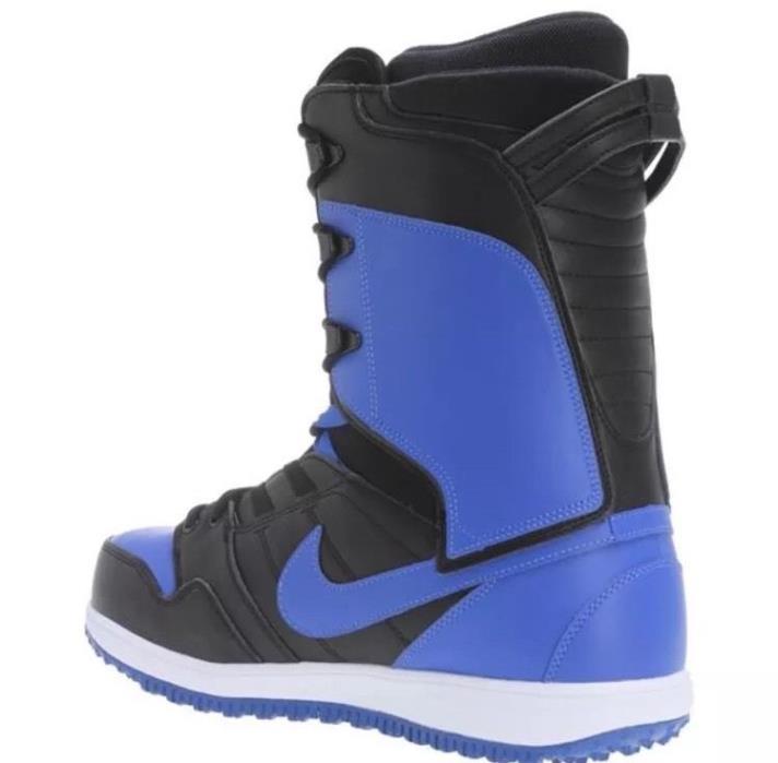 NIKE VAPEN SNOWBOARDING BOOTS SZ 8 BLACK BLUE 447125-041 RARE NEW SB