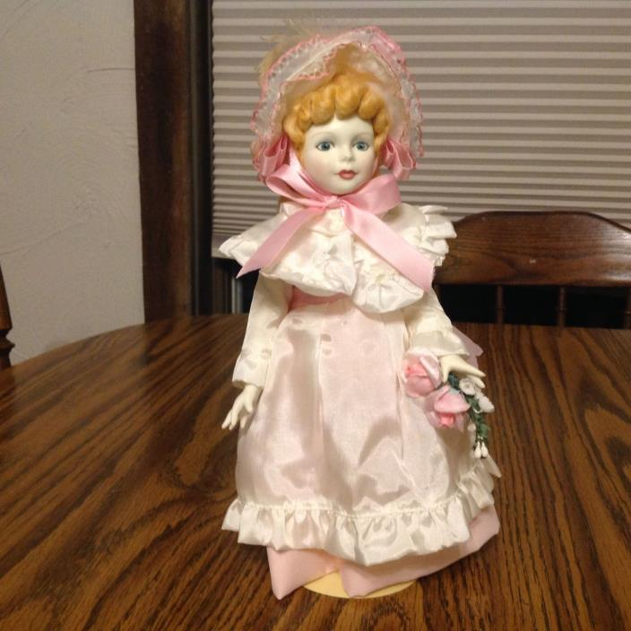 Royal Doulton Nisbet doll (Kate Greenaway Collection) - Pink Sash - 11 Inch