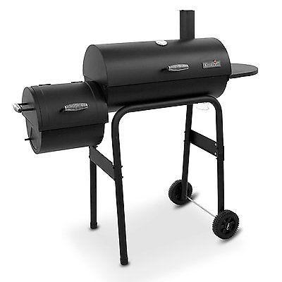 American Gourmet Standard Char-Broil Black Offset Smoker Wood, Charcoal, Pellets