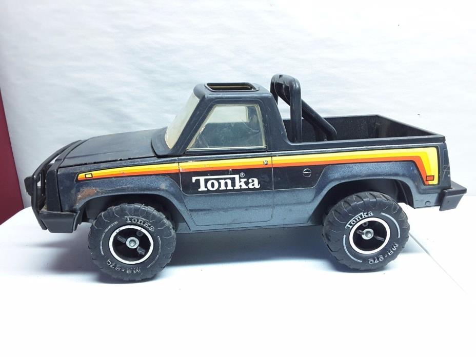 1970's Tonka Big Duke Roughneck Bronco Truck Pickup Metal Steel MR-970 Tires