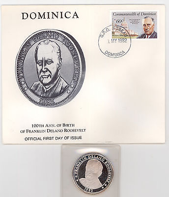 1982 FRANKLIN DELANO ROOSEVELT Commemorative 1 Ounce .999 Silver Sealed #1