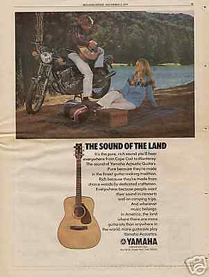1974 THE SOUND OF THE LAND YAMAHA GUITAR AD