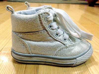 Toddler Girls Sparkle Hi Top Athletic Shoes Size US 5 Crazy 8 brand C8