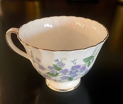 12 Vintage Royal Adderley-Forget Me Not-Tea Cups