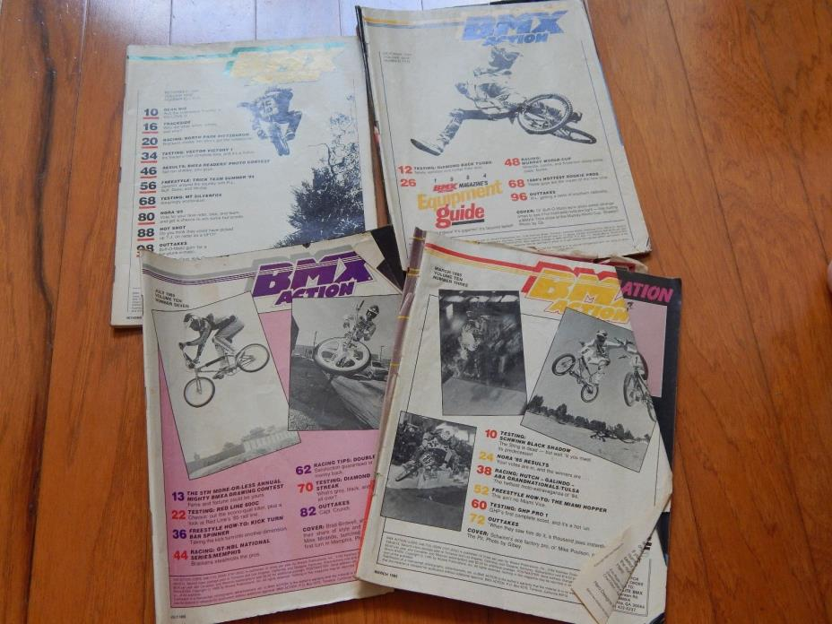 LOT OF 4  BMX Plus Magazines from 1984 & 1985 - Vintage 1980s BMX