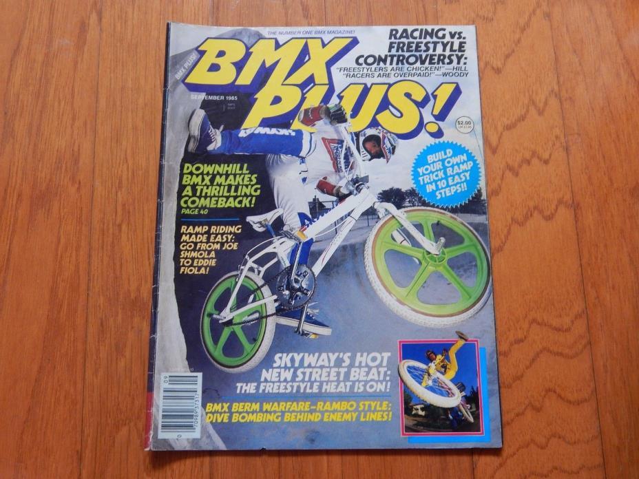 BMX Plus Magazine, September 1985 - Vintage 1980s BMX