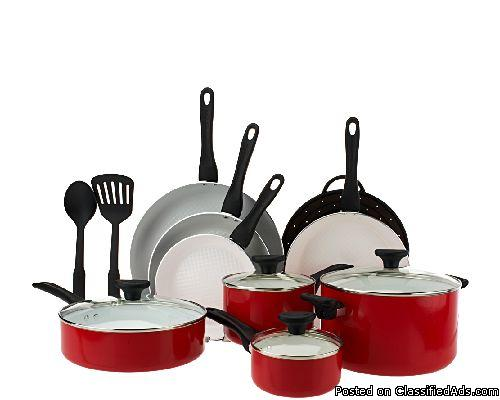 SILVERSTONE CERAMIC NONSTICK 13-PIECE COOKWARE K41697