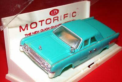 Vintage 1960's Ideal MOTORIFIC 1963 LINCOLN CONTINENTAL Suicide Doors Turq Body