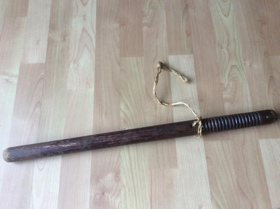 Vintage  Wooden Night Stick Baton Billy Club 24