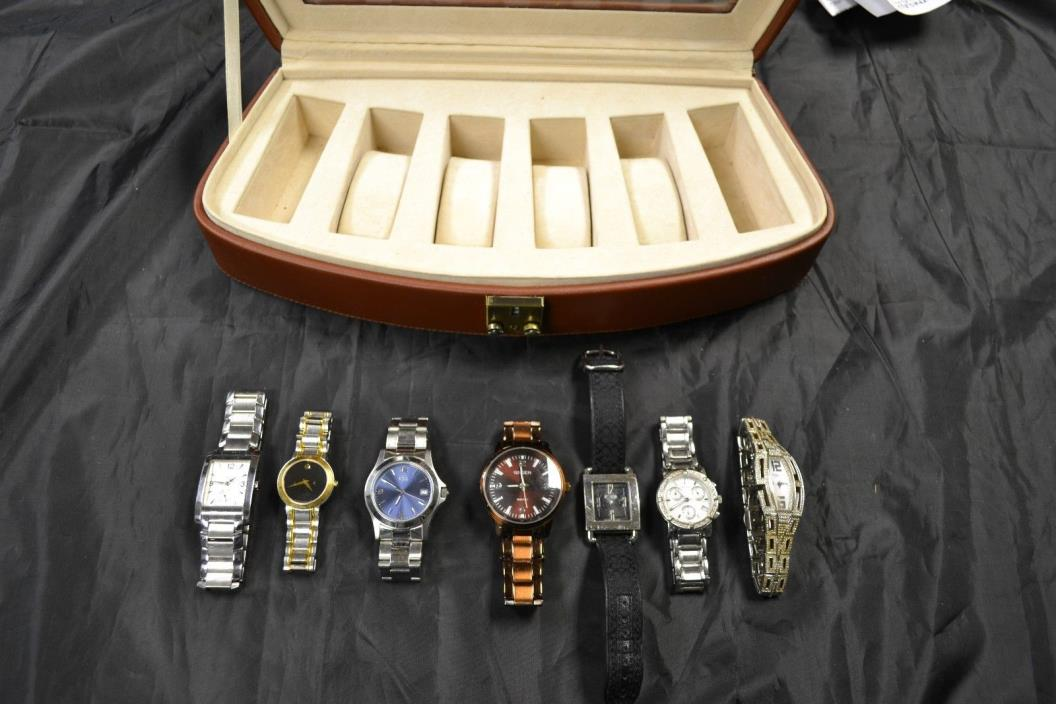 LARGE LOT OF WOMENS WATCHES GREAT BRANDS! (USED CONDITION)