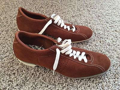 Vintage HYDE Men's Brown Suede Leather Tournament Bowling Shoes Size 10 D