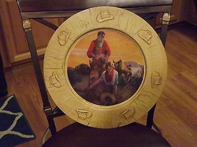 Vintage Western decor plaque