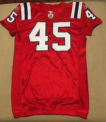 New England Patriots Authentic Reebok Team Issued Throwback Jersey NFL RARE #45
