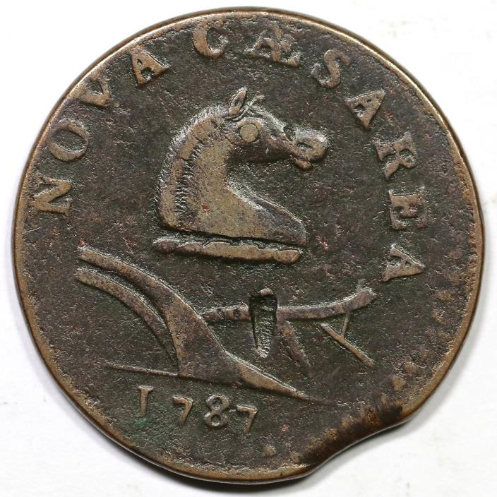 1787 38-y R-3 Small Planchet New Jersey Colonial Copper Coin