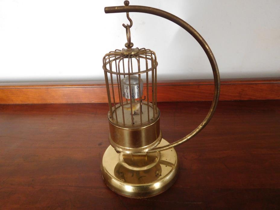 Antique Bird Cage Clock