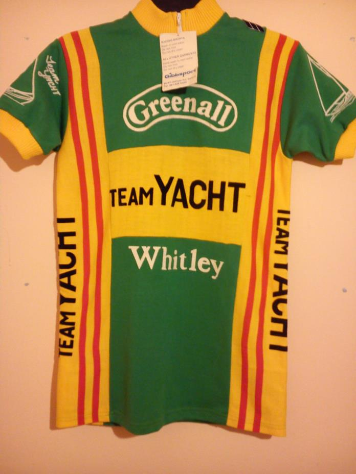 CYCLING JERSEY GREENHALL WHITLEY TEAM YACHT GIBBSPORT SIZE S GREEN YELLOW BNWT