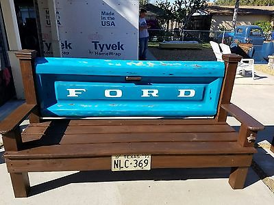 Ford tailgate wood bench