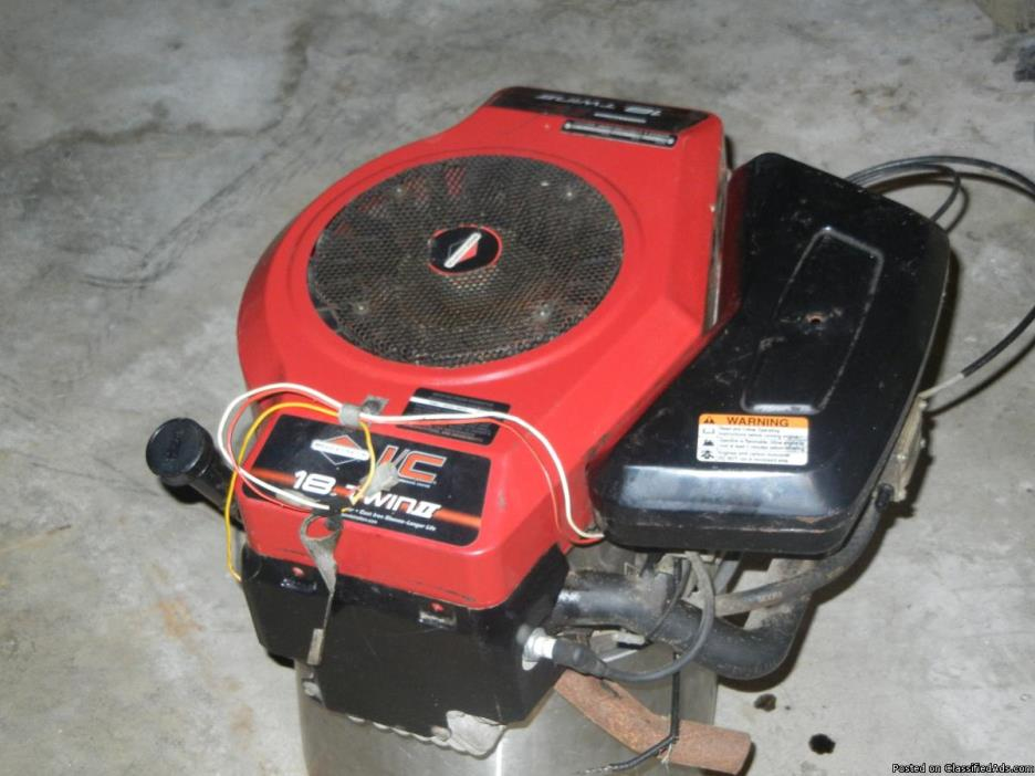 (PRICE DROP!!!!!)Briggs & stratton 18hp twin cam engine. (NEW PICS)