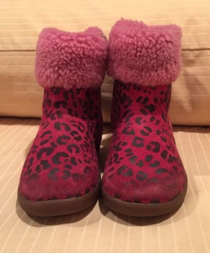 UGG Toddlers Boots 1004945T Leopard Pink Size 6