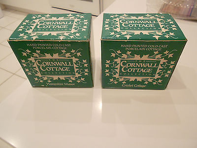 CORNWALL COTTAGE/ CRICKET COTTAGE & HAMPSHIRE MANOR BOXED-EXCELLENT