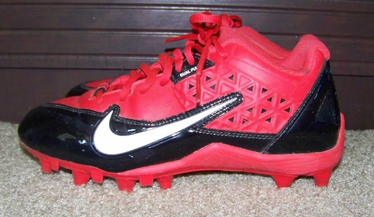 Nike Red Black Dual Pull ALPHA Size 6 Cleats