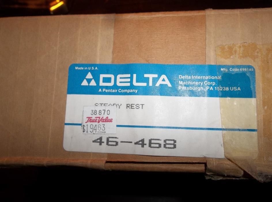New Delta Wood Lathe Steady Rest # 46-468, CBL446