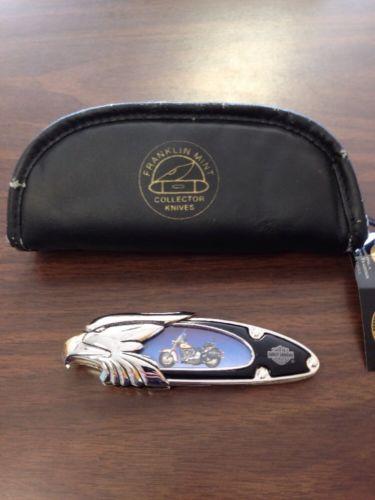 Vintage Franklin Mint Harley Davidson Collectors Knife-Heritage Softail