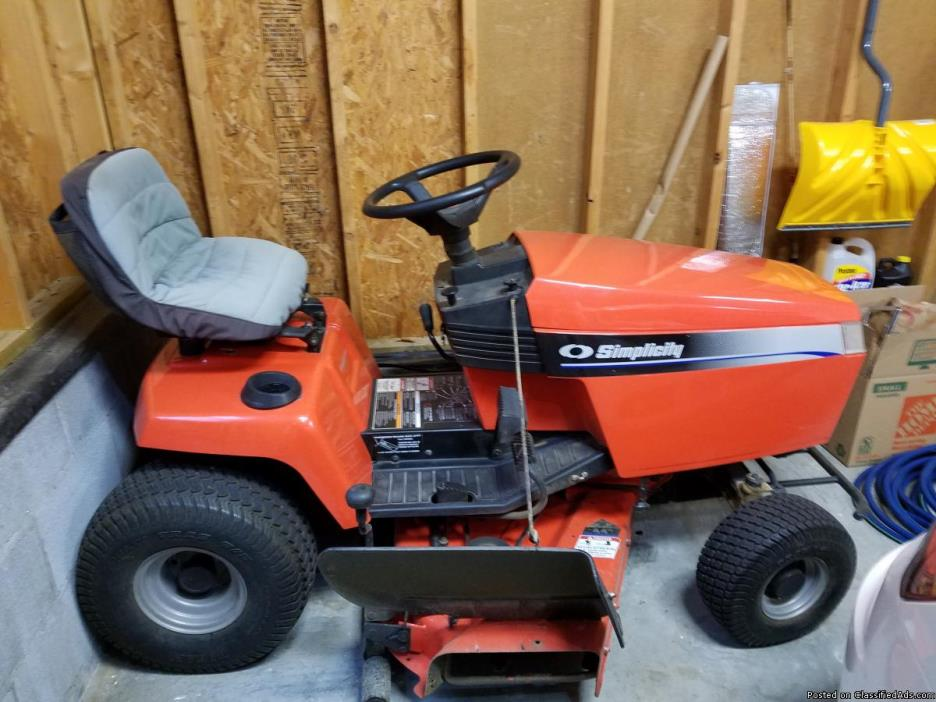 Simplicity Riding Mower 1998