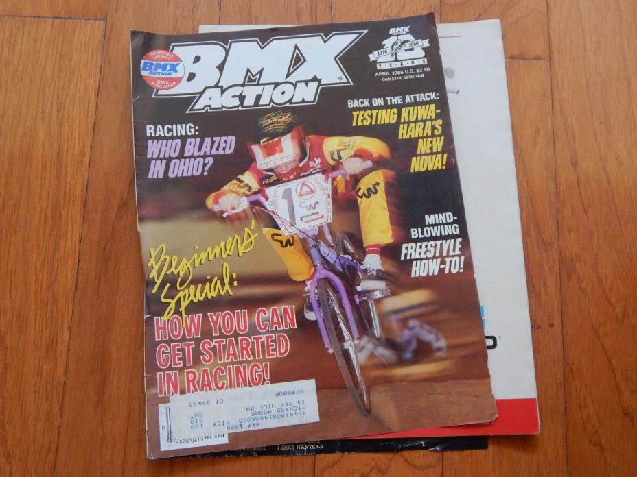 BMX Plus Magazine, April 1986 - Vintage 1980s BMX