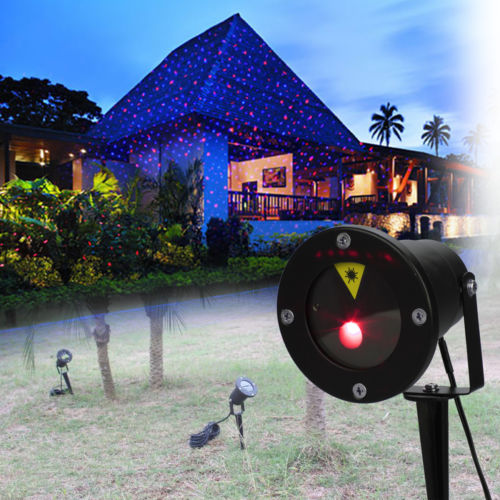 Red Green Laser Projector Landscape Light LED Shower Outdoor Garden Waterproof