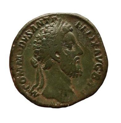Ancient roman Commodus AE Sestertius , RIC 463