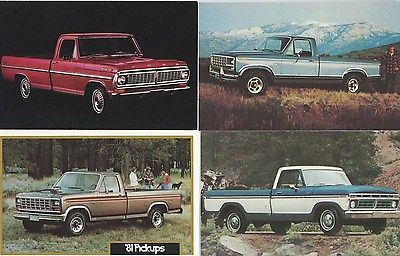Postcard Ford F-100 Pickup Truck-Courier-Ranger 7 lot