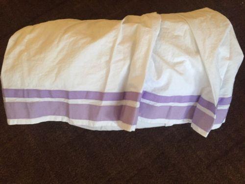 Pottery Barn Kids Harper Cotton Crib Bed Skirt Nursery Ruffle purple Lavender