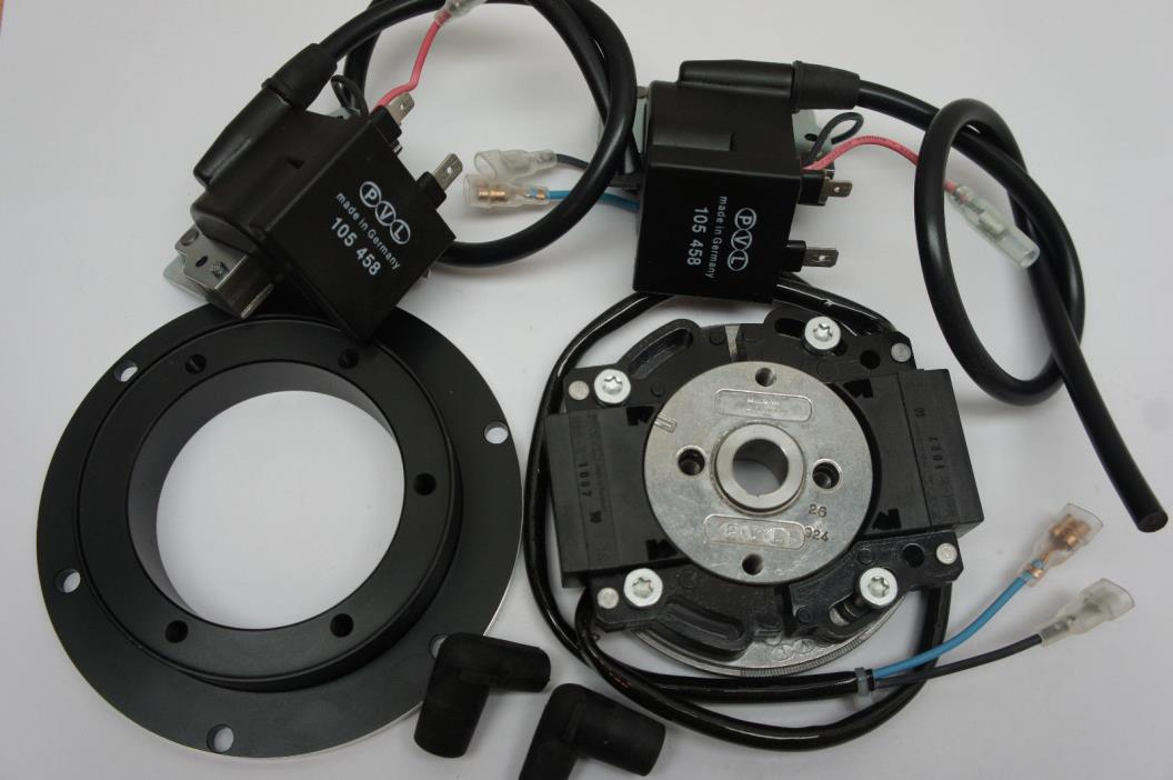 PVL Twin Ignition for 2 Cylinder 180 for RD 250 /350 / 400 with Adapterplate