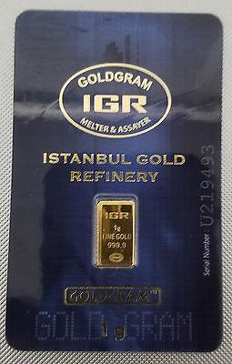 IGR GoldGram 1 gram Gold Bar