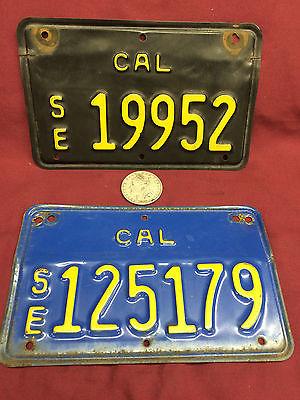 1963 1970 (2) California SM (Small Equipment) LICENSE PLATES Antique