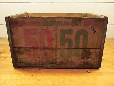 Vintage / Antique Grafs's 50/50 Wooden Soda Crate