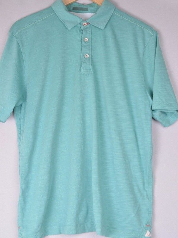Tommy Bahama Blue/Green Polo Shirt M Medium