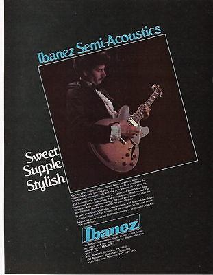 1980 SWEET SUPPLE STYLISH IBANEZ SEMI-ACOUSTIC GUITAR AD